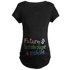 Lacrosse Player Maternity T-Shirt