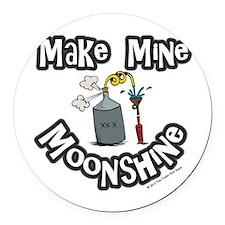 Make Mine Moonshine Round Car Magnet