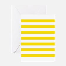 Yellow and white horizontal stripes Greeting Card