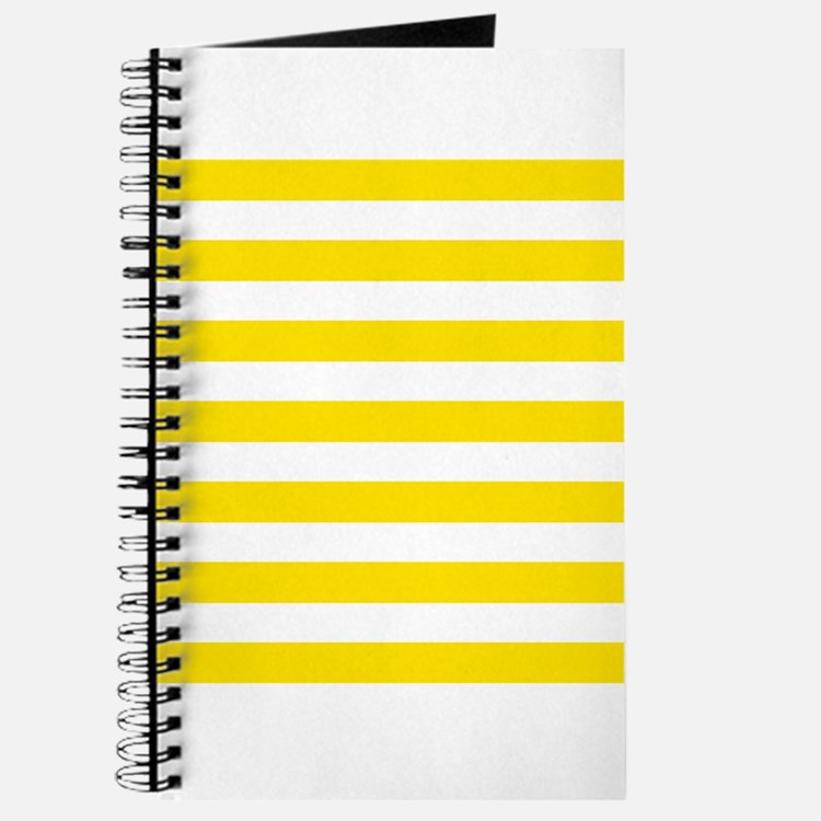 Yellow and white horizontal stripes Journal