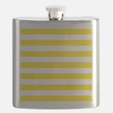 Yellow and white horizontal stripes Flask