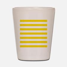 Yellow and white horizontal stripes Shot Glass