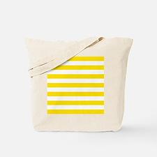 Yellow and white horizontal stripes Tote Bag