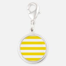 Yellow and white horizontal stripes Charms