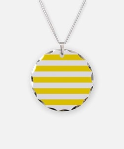 Yellow and white horizontal stripes Necklace