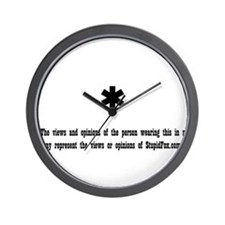 Disclaimer: Views and opinion Wall Clock