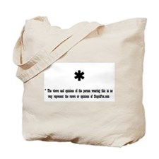 Disclaimer: Views and opinion Tote Bag