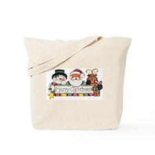 Merry Christmas Trio Tote Bag