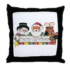Merry Christmas Trio Throw Pillow