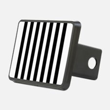 Black and white vertical stripes Hitch Cover