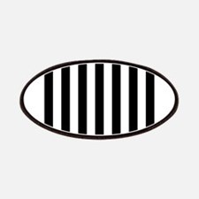 Black and white vertical stripes Patches