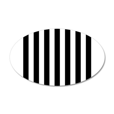 black and white vertical stripes wall sticker by
