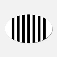 Black and white vertical stripes Wall Sticker