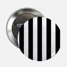 "Black and white vertical stripes 2.25"" Button"