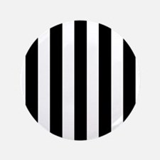 "Black and white vertical stripes 3.5"" Button"
