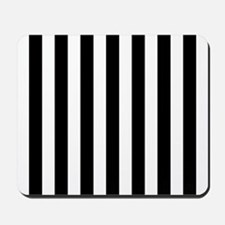 Black and white vertical stripes Mousepad