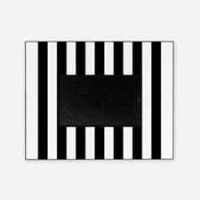 Black and white vertical stripes Picture Frame