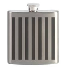Black and white vertical stripes Flask