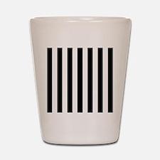 Black and white vertical stripes Shot Glass