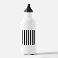 Black and white vertical stripes Sports Water Bott