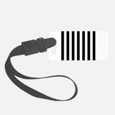 Black and white vertical stripes Luggage Tag