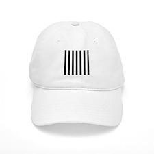 Black and white vertical stripes Baseball Cap