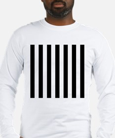 Black and white vertical stripes Long Sleeve T-Shi