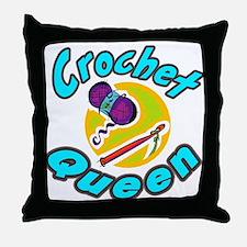 Crochet Queen Throw Pillow