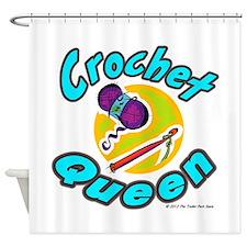 Crochet Queen Shower Curtain