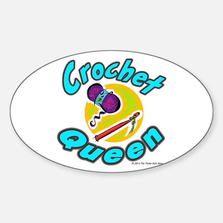 Crochet Queen Sticker (Oval)
