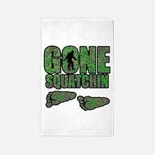 Gone Squatchin woodlands 3'x5' Area Rug