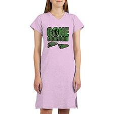 Gone Squatchin woodlands Women's Nightshirt