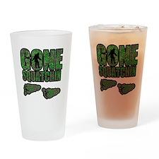 Gone Squatchin woodlands Drinking Glass