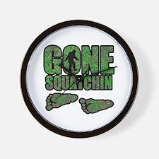 Gone Squatchin woodlands Wall Clock