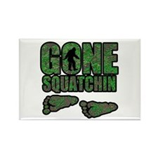 Gone Squatchin woodlands Rectangle Magnet (10 pack