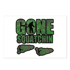 Gone Squatchin woodlands Postcards (Package of 8)