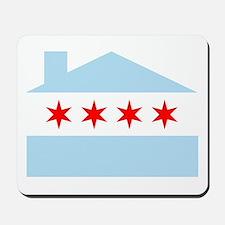 Chicago House Flag Mousepad