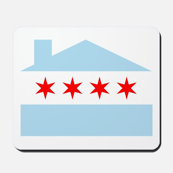 Chicago House Flag Mousepad