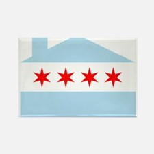 Chicago House Flag Rectangle Magnet