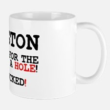 CITY AS A HOLE - ITS FUCKED - HOUSTON Z Small Mug