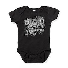 Worn Zodiac Taurus Baby Bodysuit