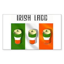 Irish Ladd (Boy) Gift Rectangle Decal