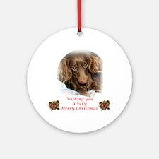 CH LH dachsie Christmas Ornament (Round)