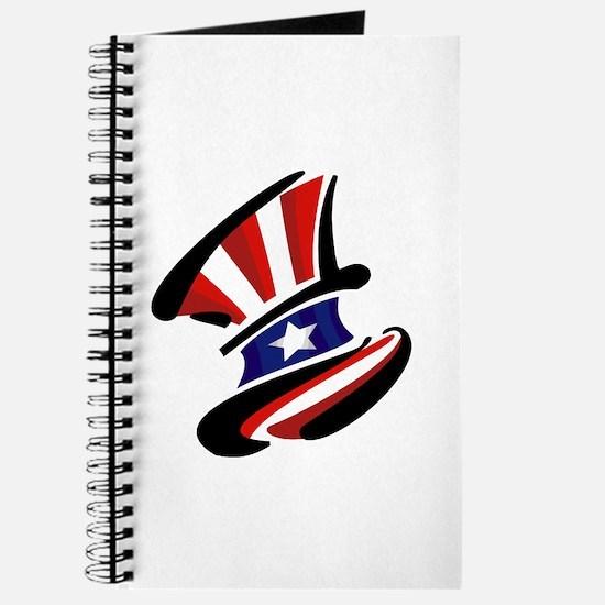 Patriotic Top Hat Journal