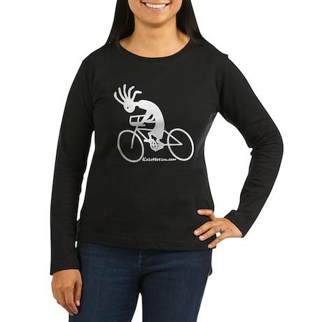 Kokopelli Road Cyclist Women's Long Sleeve Dark T-