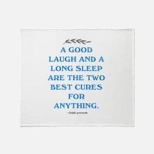 GOOD LAUGH - LONG SLEEP Throw Blanket