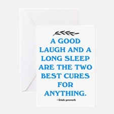 GOOD LAUGH - LONG SLEEP Greeting Card