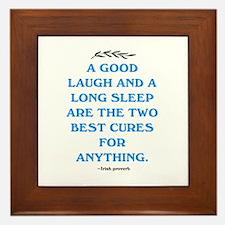 GOOD LAUGH - LONG SLEEP Framed Tile