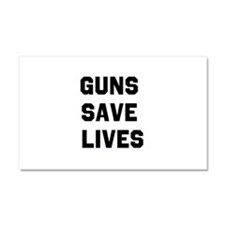 Guns Save Lives Car Magnet 20 x 12