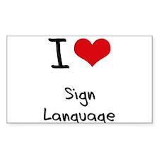 I Love Sign Language Decal